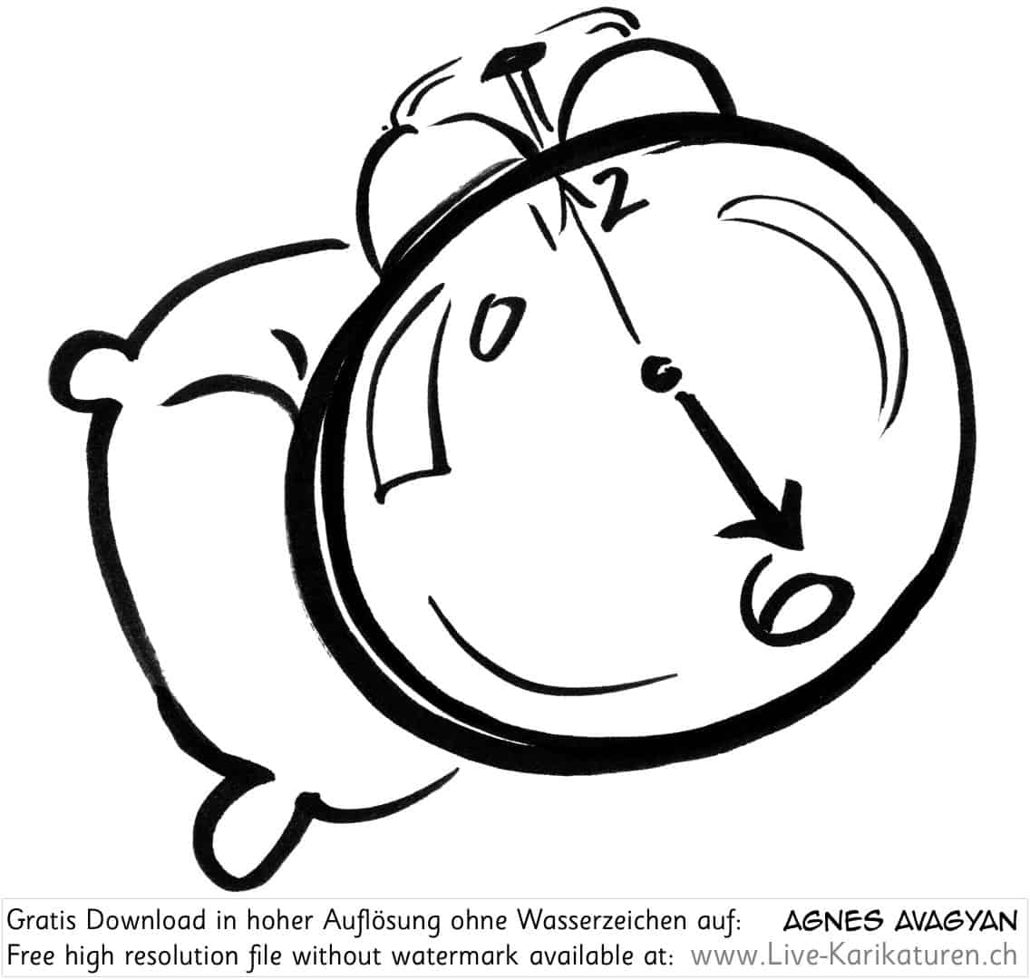 a cartoon clock