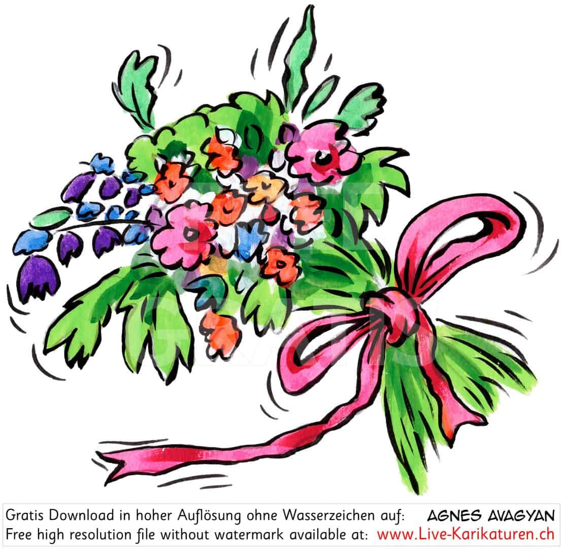 blumen blumenstrauss danke bewegt agnes live karikaturen zweihandshow. Black Bedroom Furniture Sets. Home Design Ideas