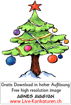 weihnachtsbaum schnee roter stern agnes live karikaturen. Black Bedroom Furniture Sets. Home Design Ideas