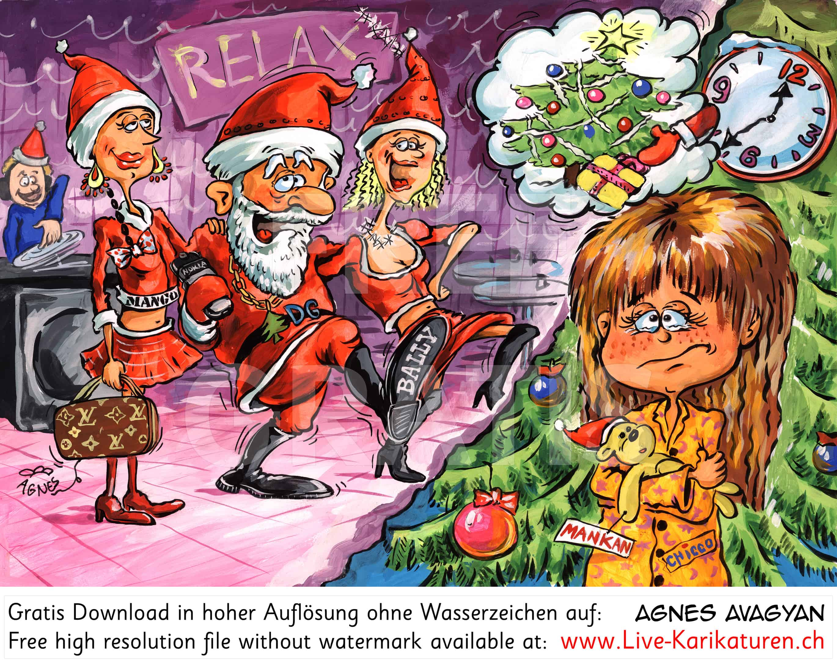 weihnachten kommerz enttaeuschung agnes live karikaturen. Black Bedroom Furniture Sets. Home Design Ideas