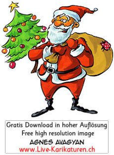 weihnachten santa claus kommerz agnes live karikaturen. Black Bedroom Furniture Sets. Home Design Ideas