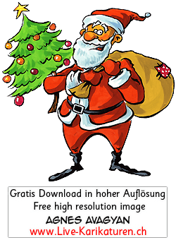 weihnachten santa claus tannenbaum agnes live. Black Bedroom Furniture Sets. Home Design Ideas