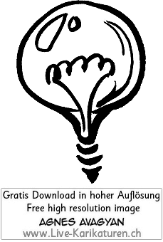 Gluehbirne, alt Wolfram, Idee, simpel, Einfall, schwarzweiss, Draht, Lampe, Birne, Agnes Live-Karikaturen, Clipart, Comic, Cartoon, Illustration, Cartoon, Comic, Karikatur, Zeichnung, Download, kostenlos, Gratisbild, gratis, free, Kunst, Kuenstler, Live Karikaturist, Comiczeichner, Armenia