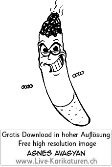 Zigarette, Finger, glimmt, gluehend, grinsen, Augen, Haende, Agnes Live-Karikaturen, Clipart, Comic, Cartoon, Illustration, Cartoon, Comic, Karikatur, Zeichnung, Download, kostenlos, Gratisbild, gratis, free, Kunst, Kuenstler, Live Karikaturist, Comiczeichner, Armenia