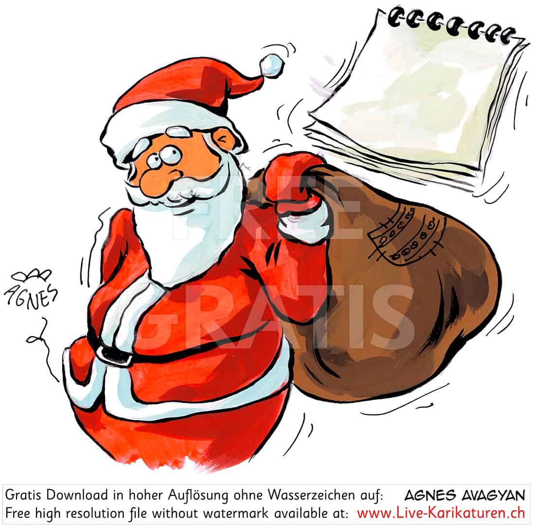 weihnachtsmann santa sack agenda kalender agnes live. Black Bedroom Furniture Sets. Home Design Ideas