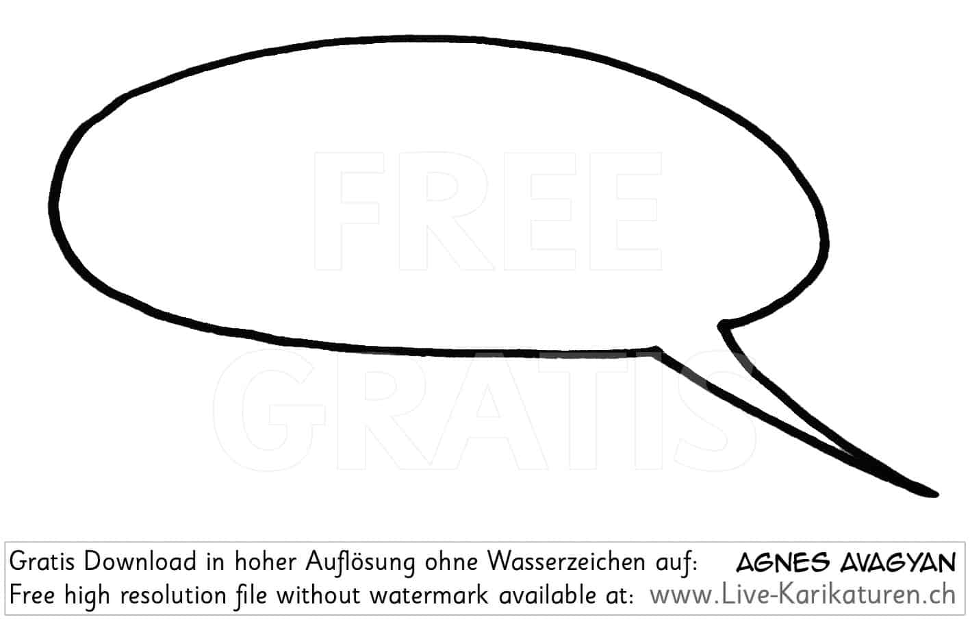 Sprechblase leer speech bubble agnes live karikaturen for Clipart gratis download