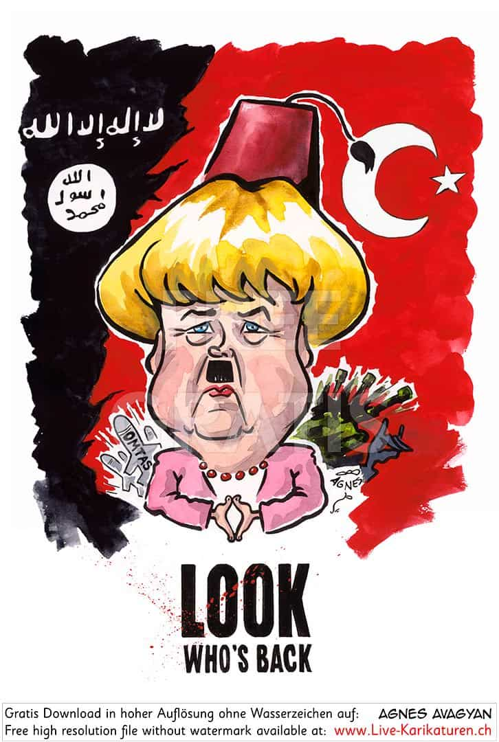Deutschland Merkel Look who's back Fascism — Agnes ...